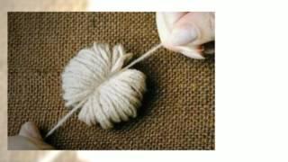 Как сделать красивый коврик из помпонов. Своими руками.