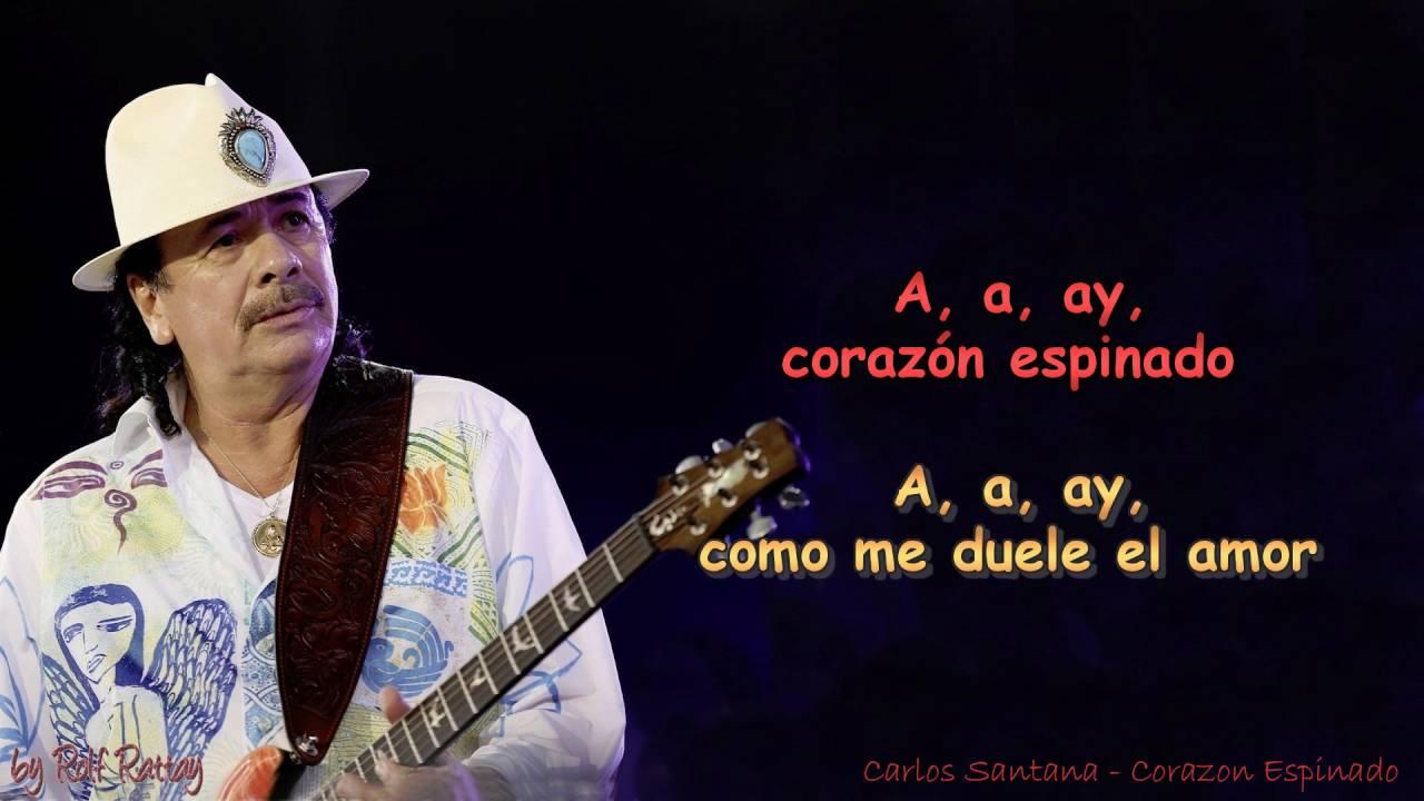 Carlos Santana Corazon Espinado Instrumental Youtube