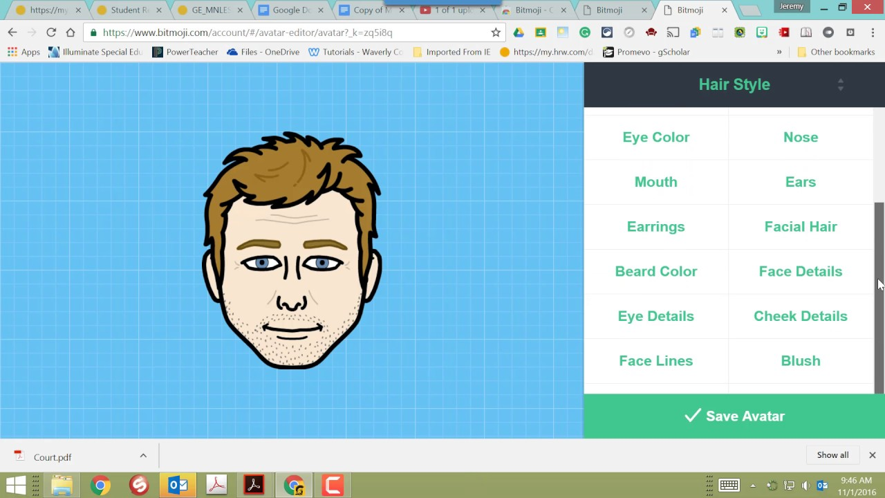 Bitmoji Tutorial