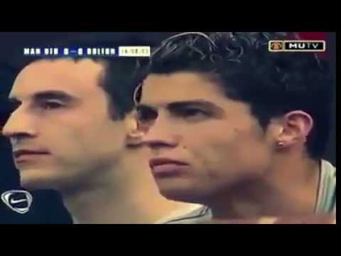 Cristiano Ronaldo first match with Man Utd