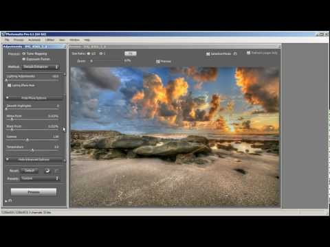 Photomatix Pro 4 HDR Software Tutorial Covering Tone Mapping Using Detail Enhancer