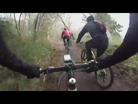 Cyclepathix Sunday MTB in the snow - North Downs