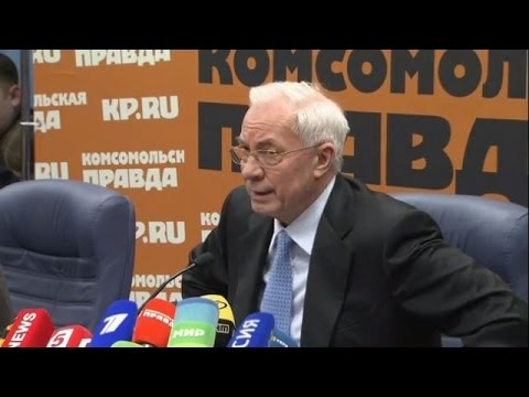 LIVE: Mykola Azarov to present 'Committee for the Salvation of Ukraine' in Moscow