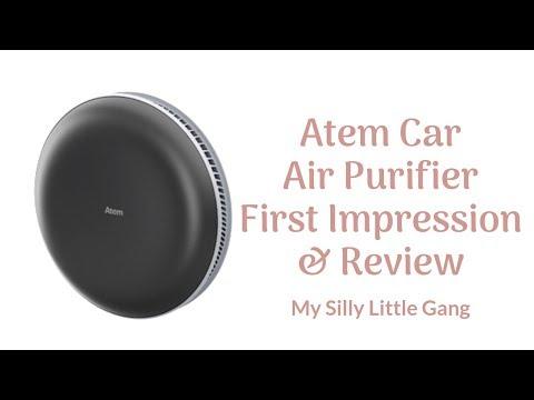 Atem Car Air Purifier First Impression & Review @IQAir #cleanair #IQAir