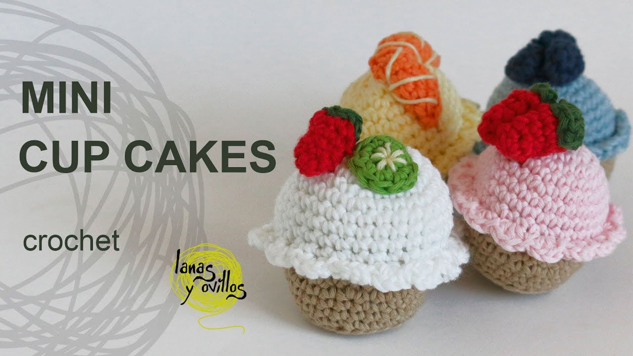 Patron De Cupcake Amigurumi : Tutorial Mini Cupcakes Amigurumi Crochet o Ganchillo - YouTube