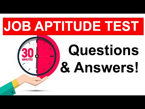 APTITUDE TEST Questions And ANSWERS! (How To Pass A JOB Aptitude Test In 2020!)