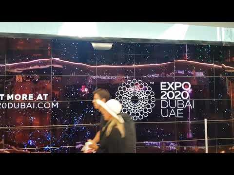 Dubai UAE 2020 Expo Advertising at Dubai Airport Jan 2019 Attraction Led Screens