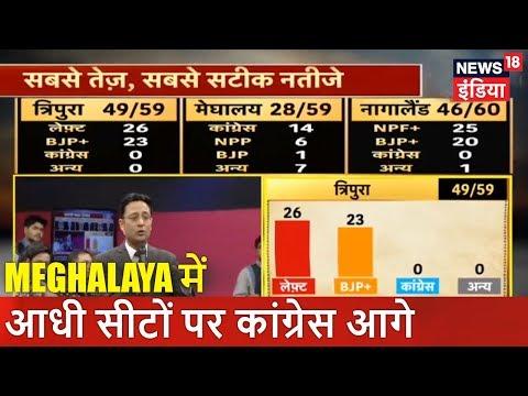 Meghalaya में आधी सीटों पर कांग्रेस आगे | Vote Counting Live | News18 India