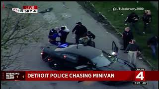 police chase detroit and pickup