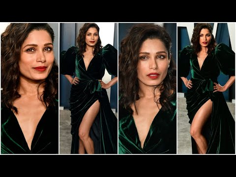 Freida Pinto Looked Stunning At Vanity Fair Oscar Party 2020