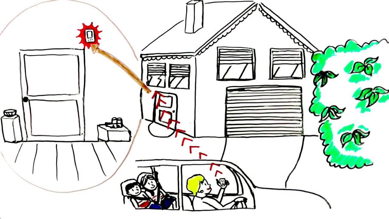 d tecteur de fum e connect et alarme intrusion youtube. Black Bedroom Furniture Sets. Home Design Ideas