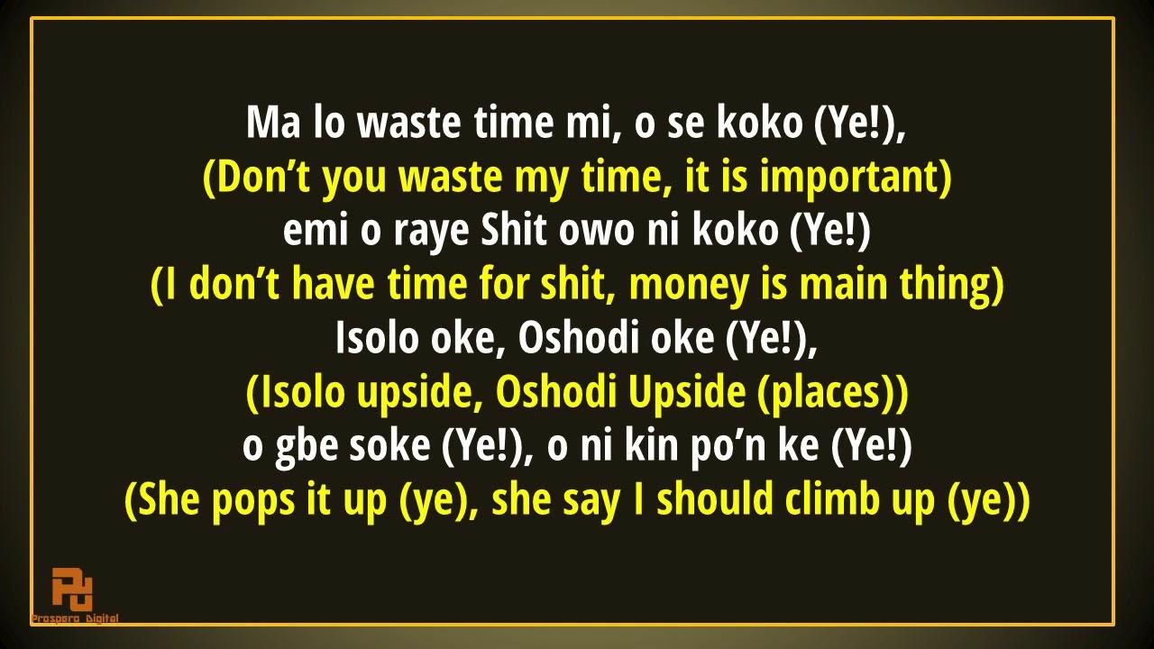 OLAMIDE - MOTIGBANA LYRICS TRANSLATION