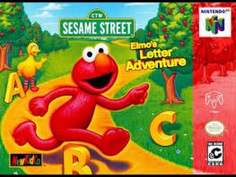 Elmo's Letter Adventure - Nintendo 64 - 1999