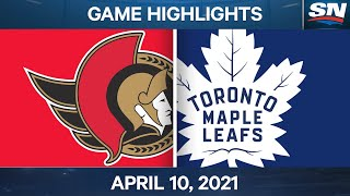 NHL Game Highlights | Leafs vs. Senators - Apr. 10, 2021