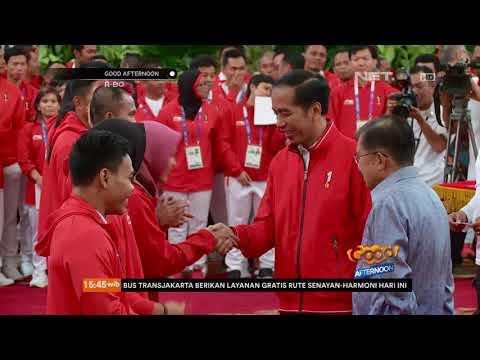 Penyerahan Bonus Secara Simbolis Oleh Presiden Jokowi Kepada Para Atlet Asian Games 2018