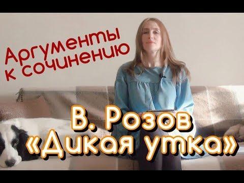 """Аргументы к сочинению Рассказ В. Розова """"Дикая утка"""""""