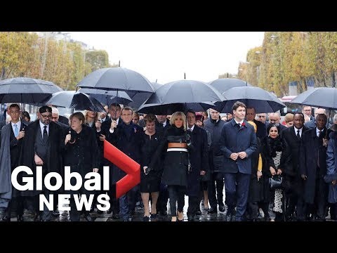 Paris ceremony marks 100th anniversary of the end of WWI