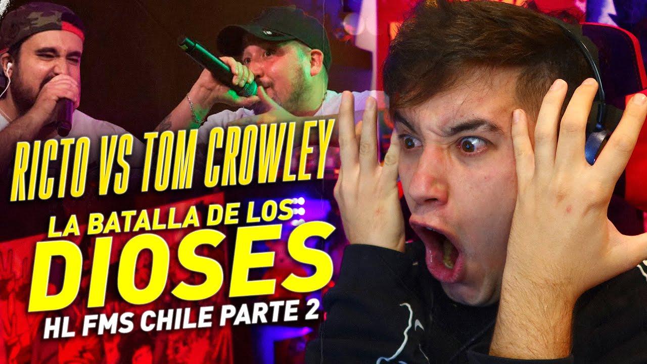 RICTO Y TOM CROWLEY, LA BATALLA DE LOS DIOSES. LAS MEJORES RIMAS DE FMS CHILE J03 PARTE 2