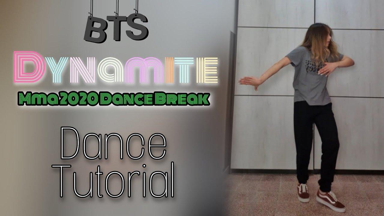 Download BTS - 'Dynamite' MMA 2020 Dance Break [ DANCE TUTORIAL Mirrored & Slow ]
