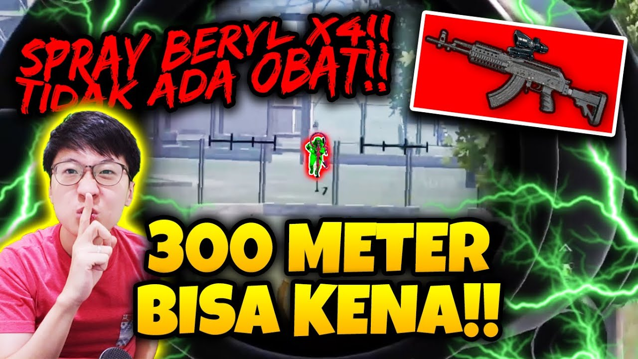 THE NEXT TACAZ?! BERYL SCOPE X4 JARAK 300 METER!! EDANN!!  | PUBG MOBILE
