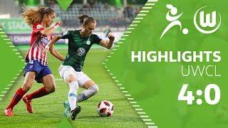 VfL Wolfsburg Frauen - Atletico Madrid 4:0 | Highlights | UEFA Women's Champions League