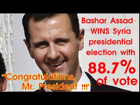 Bashar Assad WINS Syria presidential election with 88.7% of vote