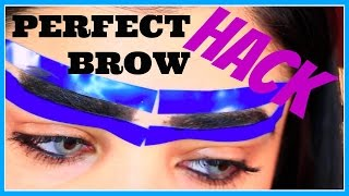 My Perfect Brow HACK Tutorial with ONE Household Item!!!