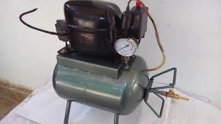 How to make a Silent  Air Compressor DIY