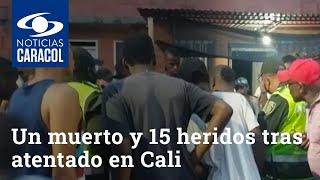 Una persona murió y 15 resultaron heridas tras atentado con granada a CAI de Llano Verde en Cali