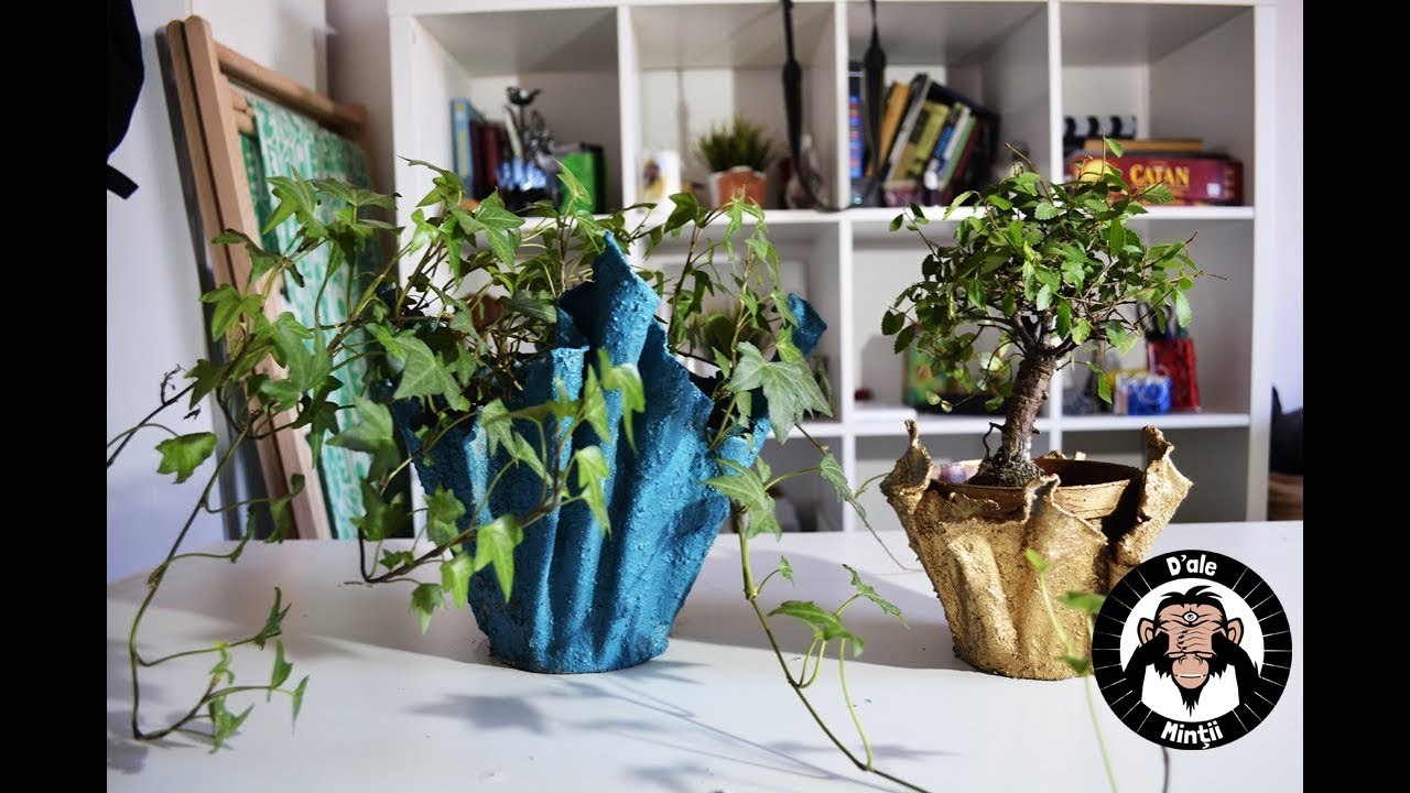 Cement Flower Pots From Old T Shirts Diy