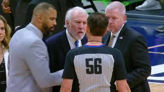 Gregg Popovich Gets Ejected 63 Seconds Into The Game