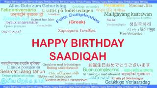 Saadiqah   Languages Idiomas - Happy Birthday