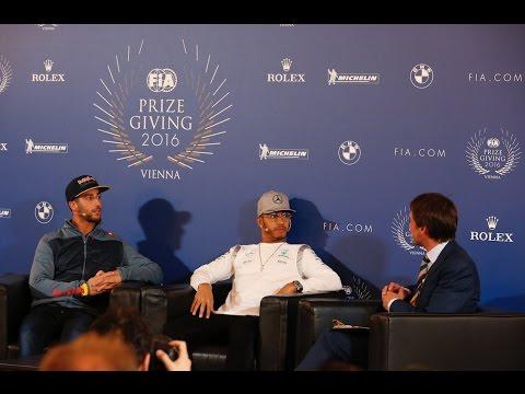 Hamilton & Ricciardo react to Rosberg retirement, discuss 2016 season