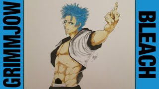 Drawing Time Lapse: Grimmjow Jaegerjaquez (Bleach) ブリーチ || 150 SUBSCRIBERS SPECIAL