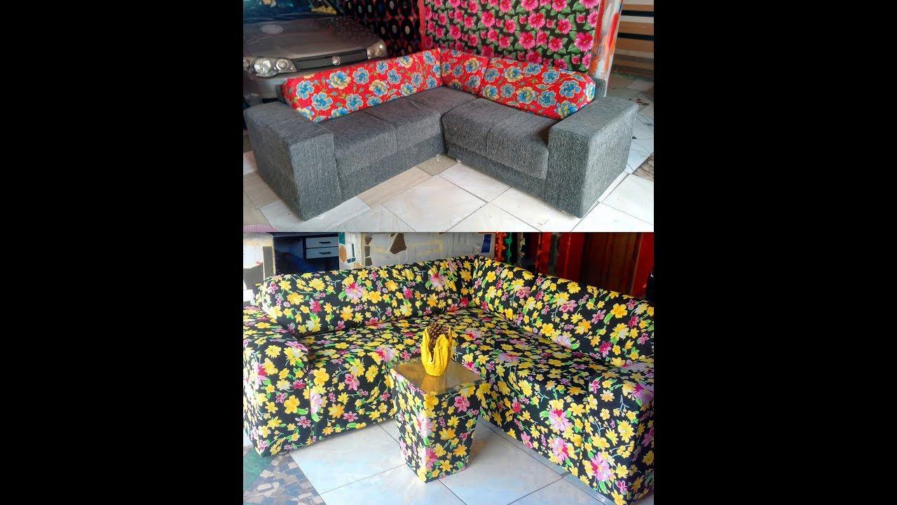 Forrando sofá de Canto sem desmontar - menos de 130 reais ...