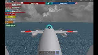 Roblox (Naval Warfare) Bombing harbour with Team Surge