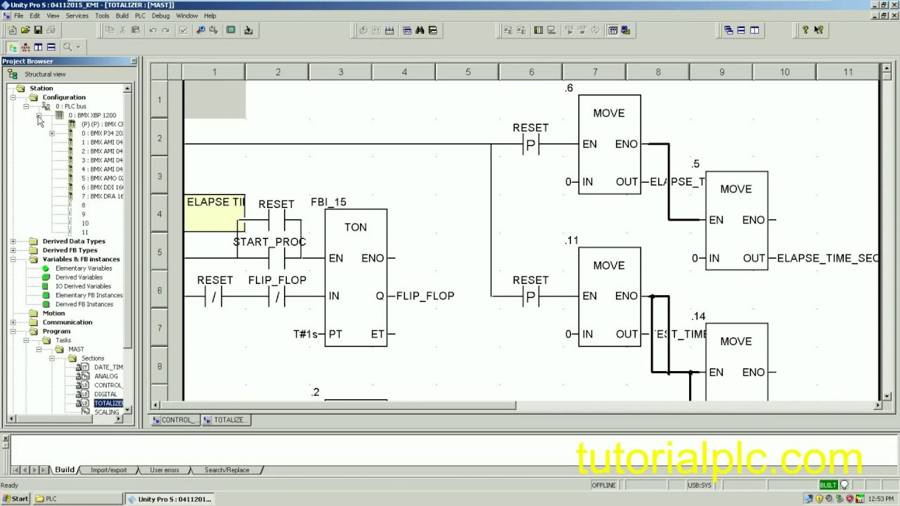 Online & download PLC modicon with software Unity Pro S