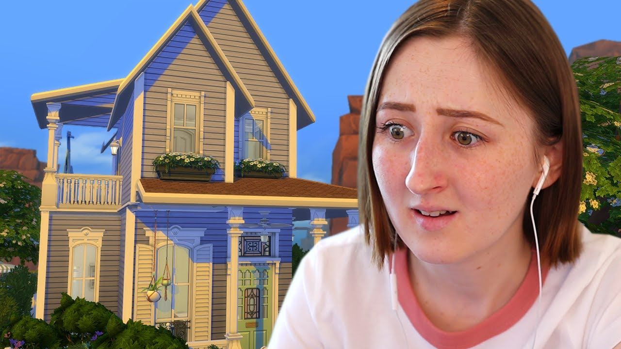I made this tiny house in The Sims 4 look HUGE thumbnail