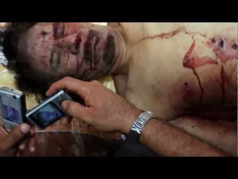 Another video shows last moments of Muammar Gaddafi 22-10-1011