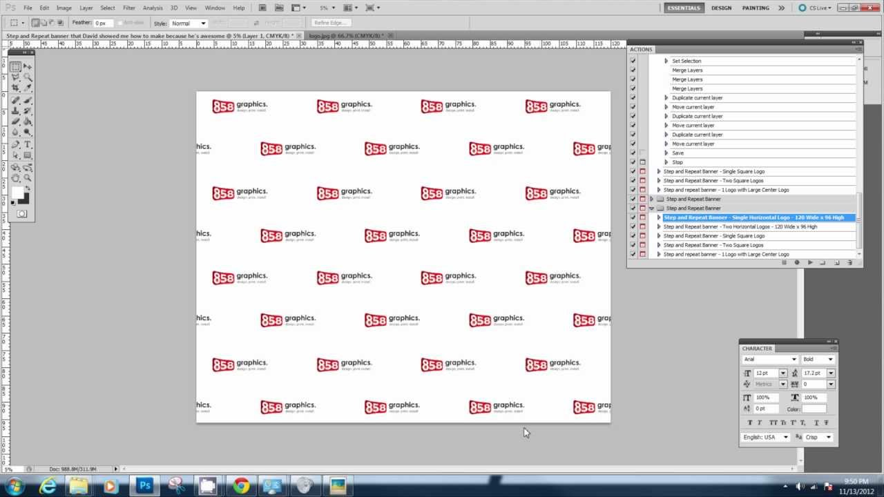 Printable step and repeat banner template. Downloading And Using The Step And Repeat Photoshop Action Youtube