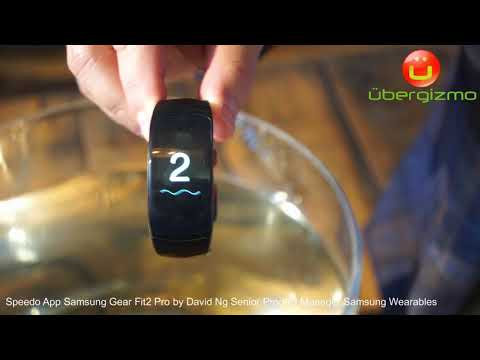 Samsung Gear Fit2 Pro Speedo Swim Tracking IFA 2017