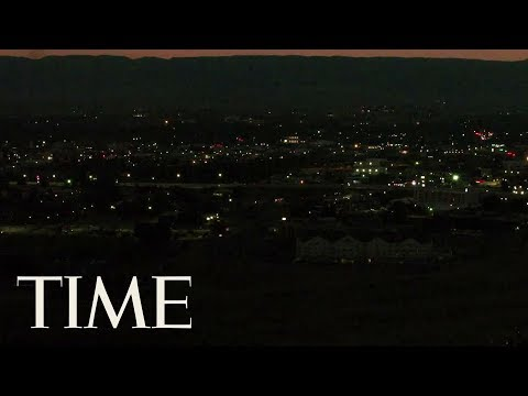 Drone Footage Captures The Moment Of Darkness As Solar Eclipse Goes Over Casper, Wyoming | TIME