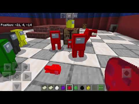 HOW TO MAKE A SECRET DOOR TO AMONG US in Minecraft PE