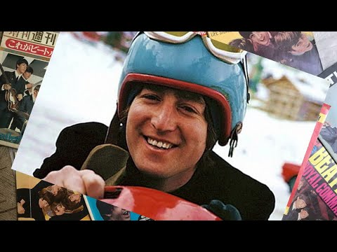 ♫ The Beatles photos / John Lennon, Cynthia and George Martin on a Skiing Holyday 1965