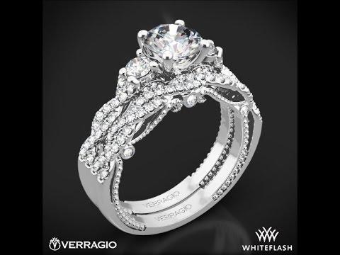 Verragio INS 7074R Insignia 3 Stone Diamond Wedding Set ...