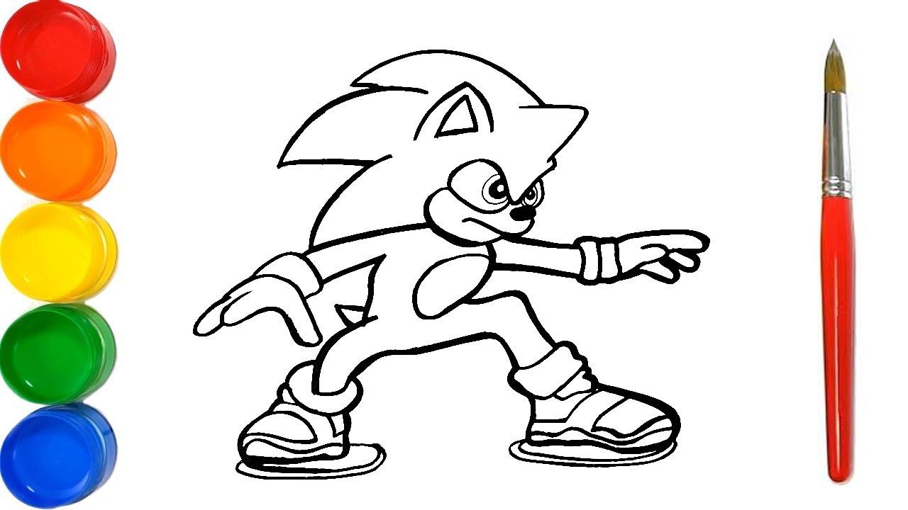 Como Dibujar Y Pintar Sonic Paso A Paso Dibujos Para Ninos