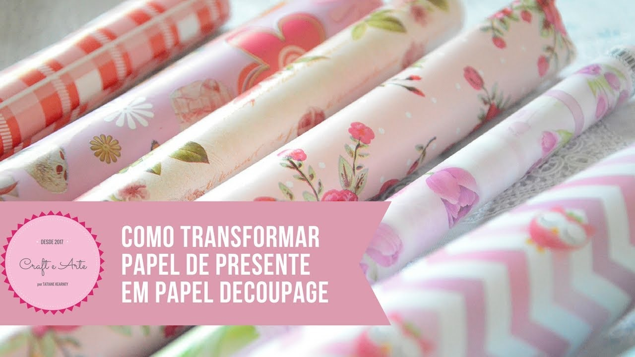 Como transformar papel de presente em papel para decoupage - Papel decoupage infantil ...