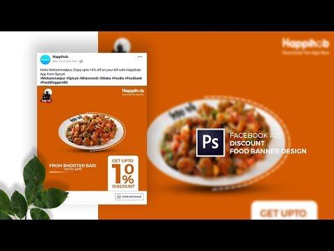 Discount Facebook Ad Food Banner Design in Adobe Photoshop CC - Designhob