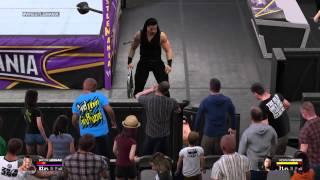 WWE 2K15 Brock Lesnar Vs. Roman Reigns WWE Championship