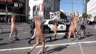 First San Francisco Valentines Nude Love Parade 2016 (Warning: Nudity, non-sexual)